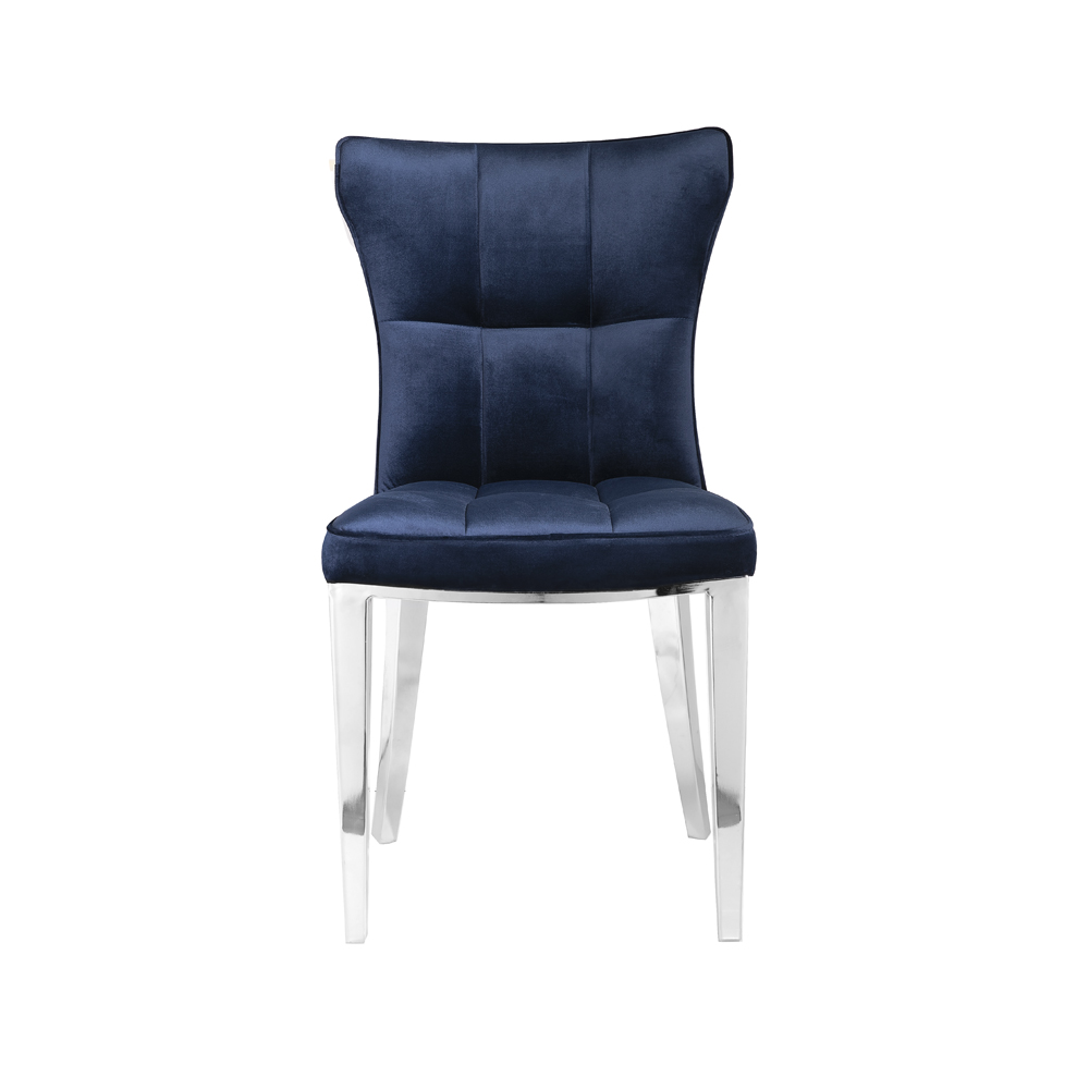 Holden Blue Velvet Chair