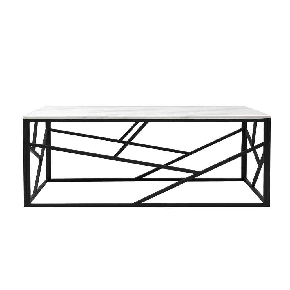 Carole Marble Coffee Table – Black Frame