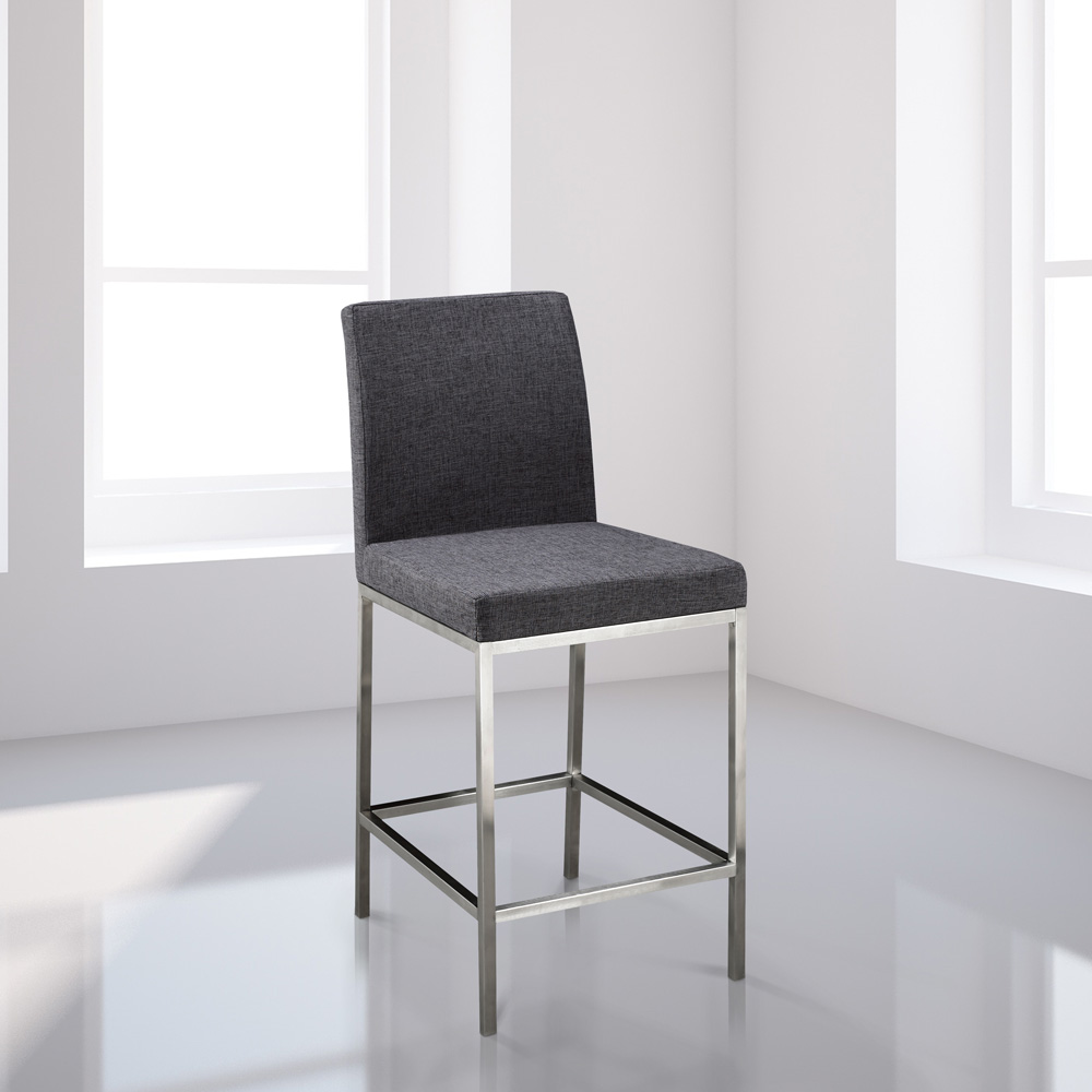 Havana Grey Fabric Counter Chair