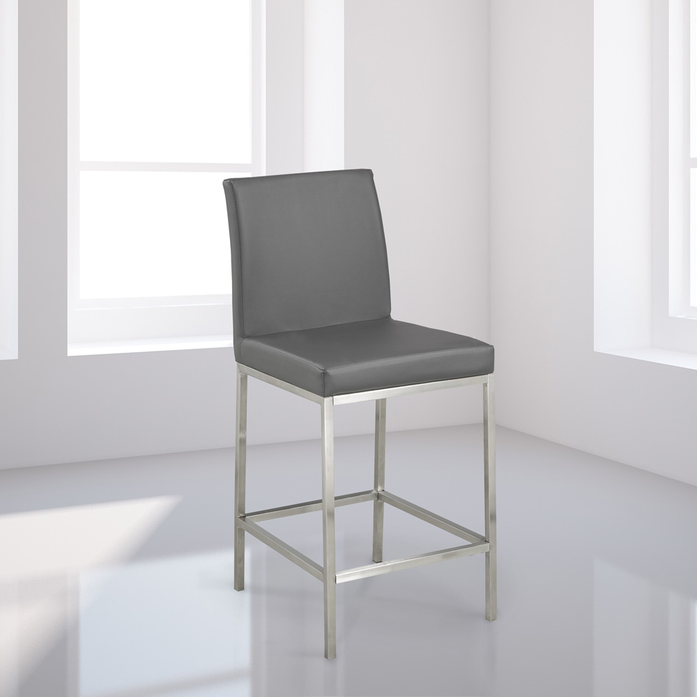 Havana Grey Leatherette Counter Chair