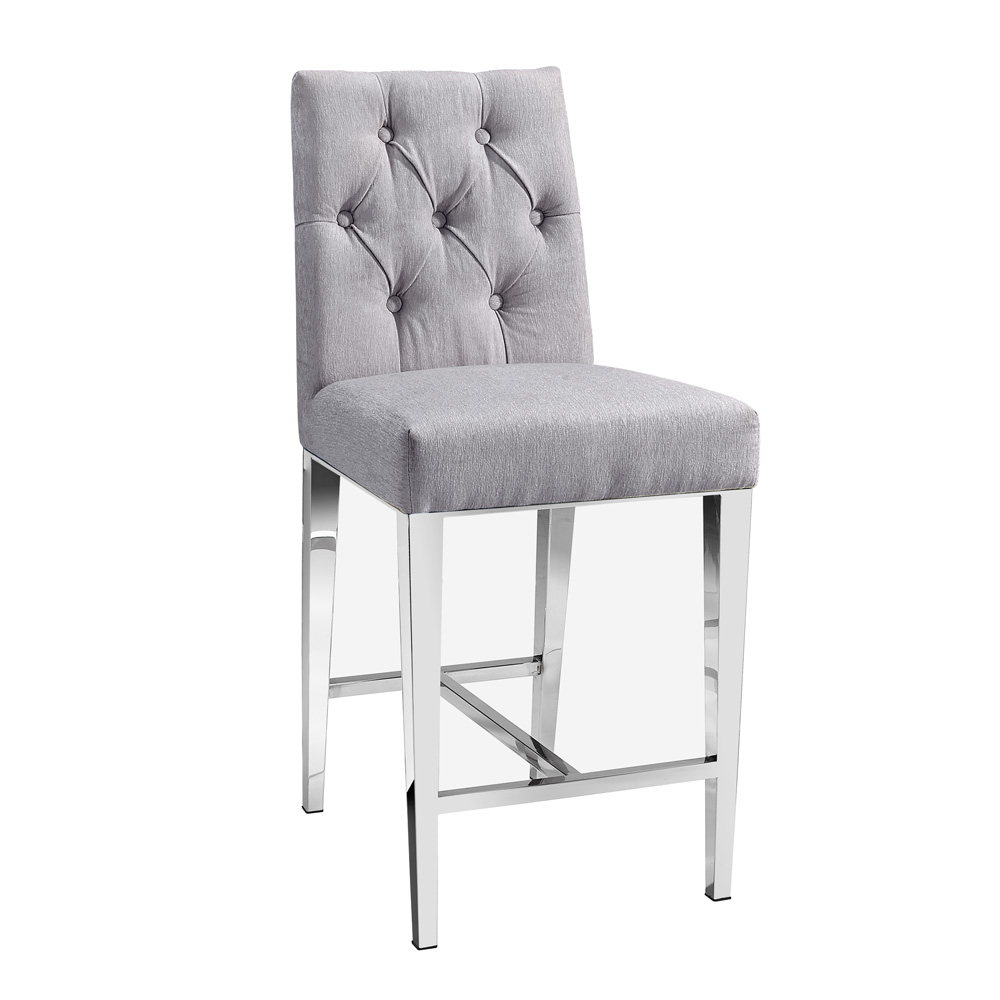 Leslie Platinum Counter Chair