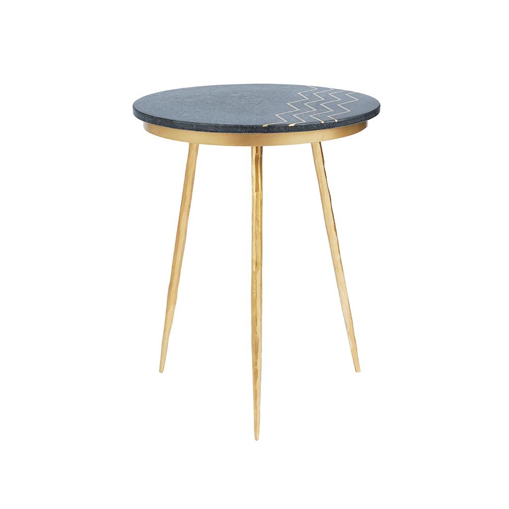 Belvin End Tables: Black Marble