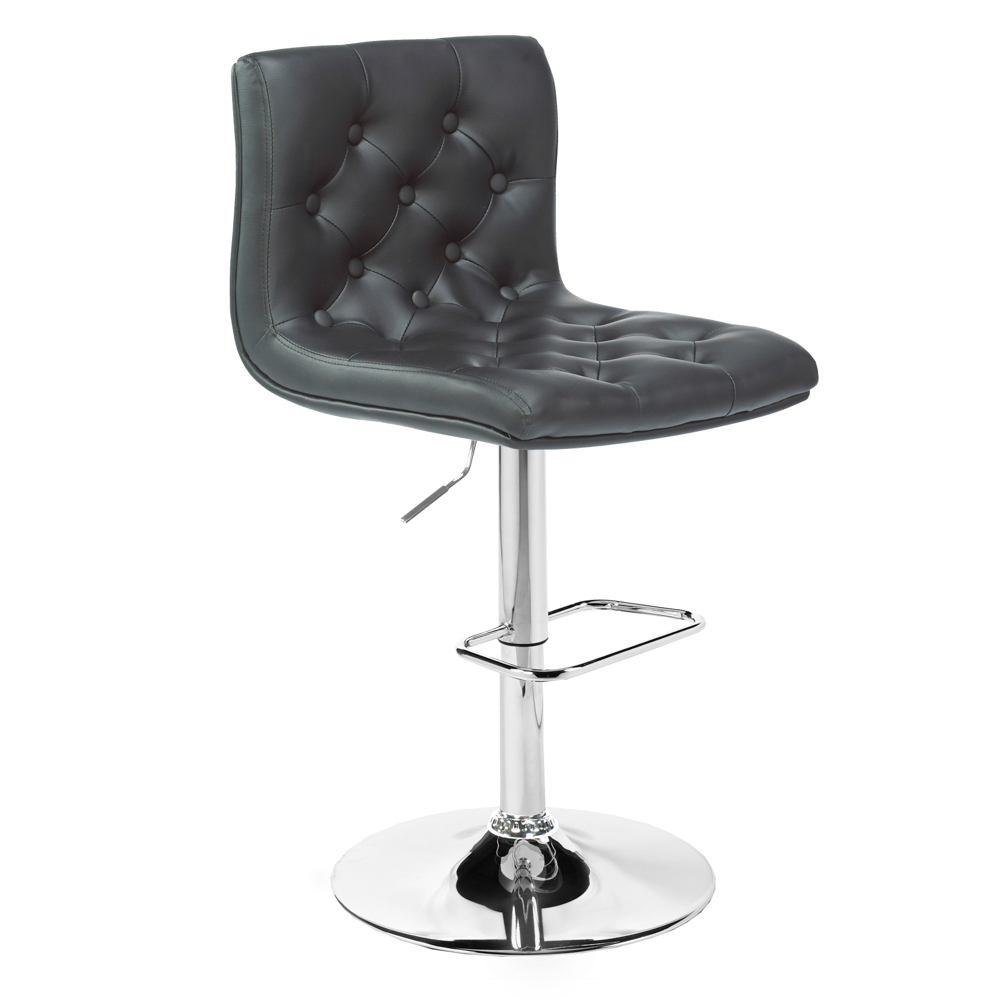 Daniel Black Leatherette Adjustable Stool