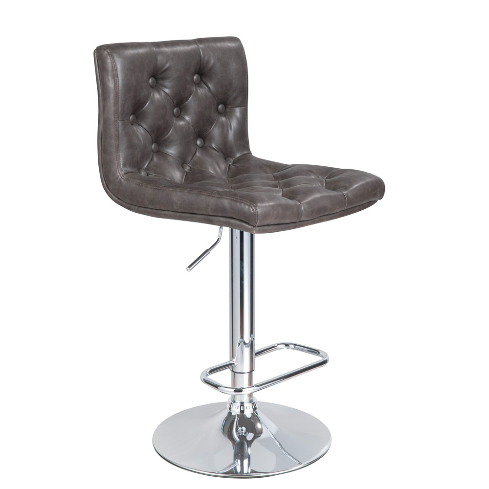 Daniel Grey Leatherette Adjustable Stool