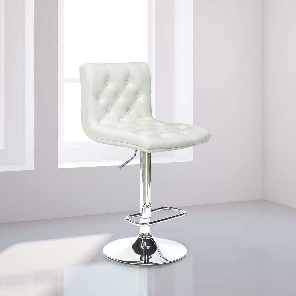 Daniel White Leatherette Adjustable Stool