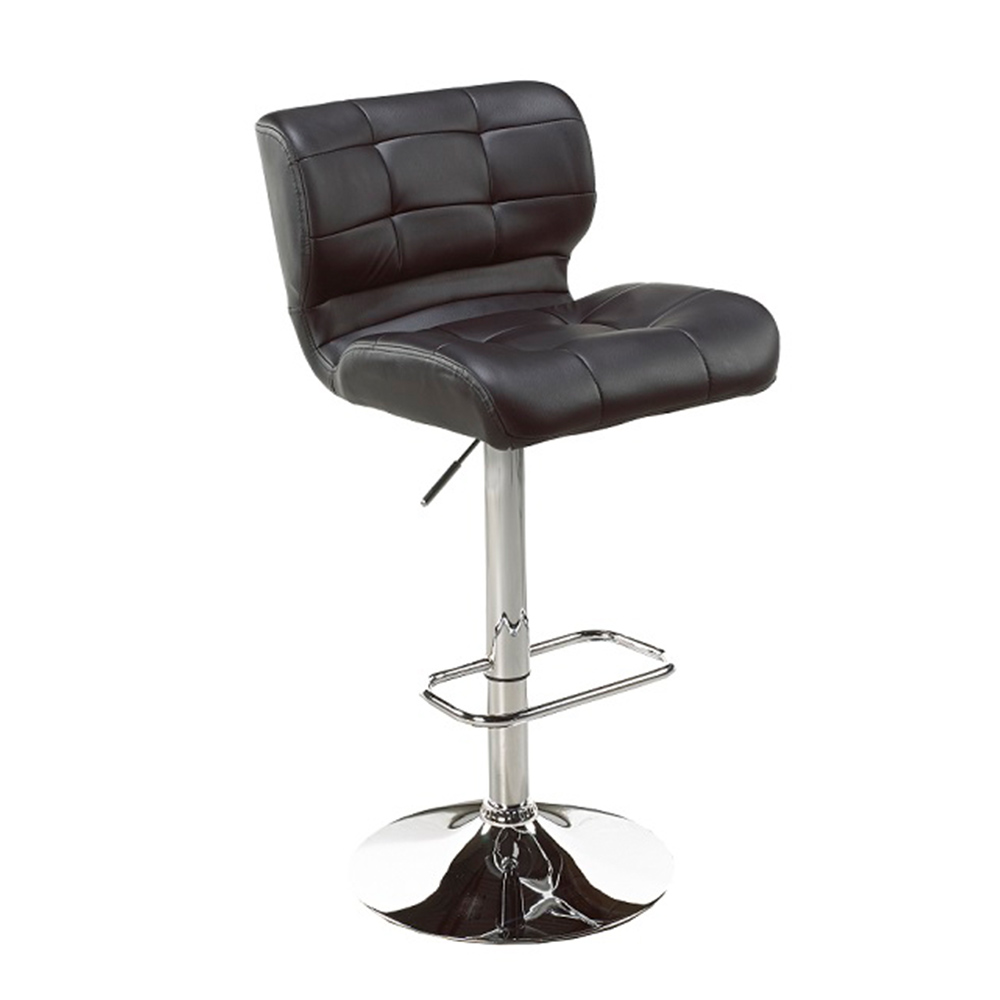 Fanta Black Leatherette Adjustable Stool