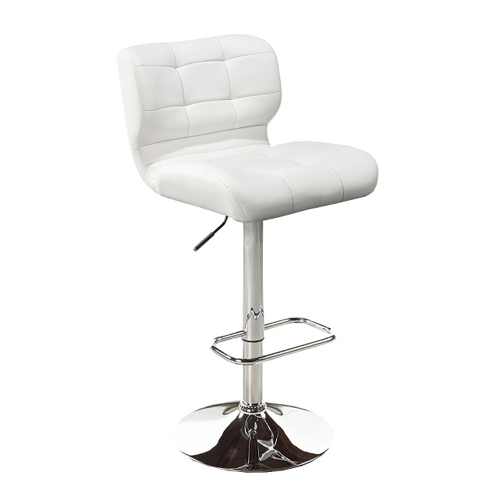 Fanta White Leatherette Adjustable Stool