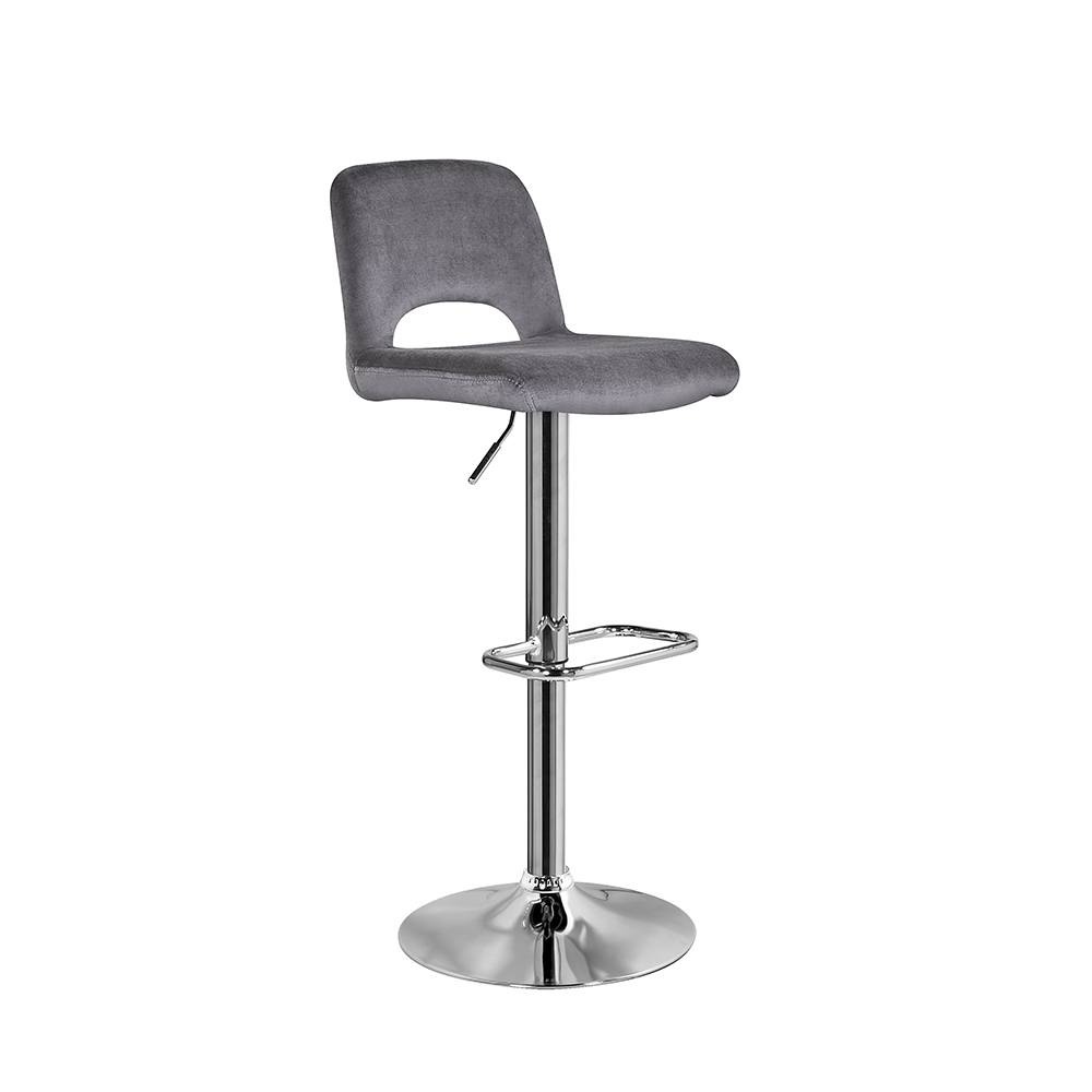 Napa Bar Stool: Dark Grey Velvet