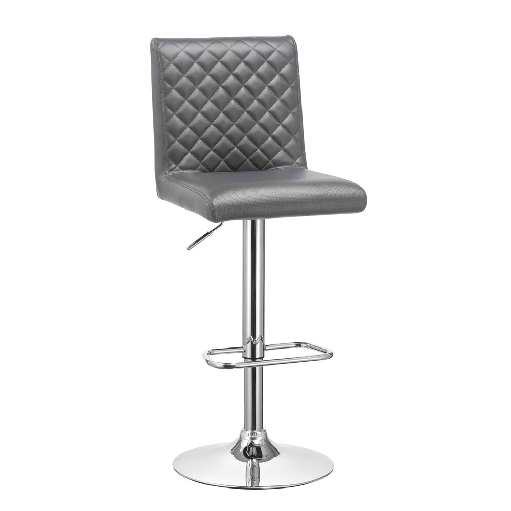 Quilted Grey Stool
