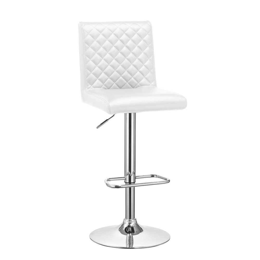 Quilted White Stool