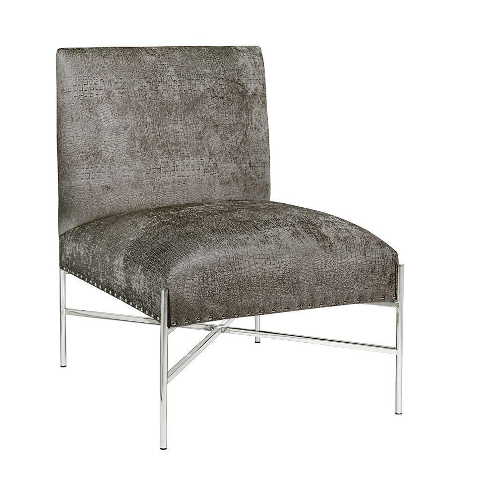 Barrymore Charcoal Reptile Accent Chair