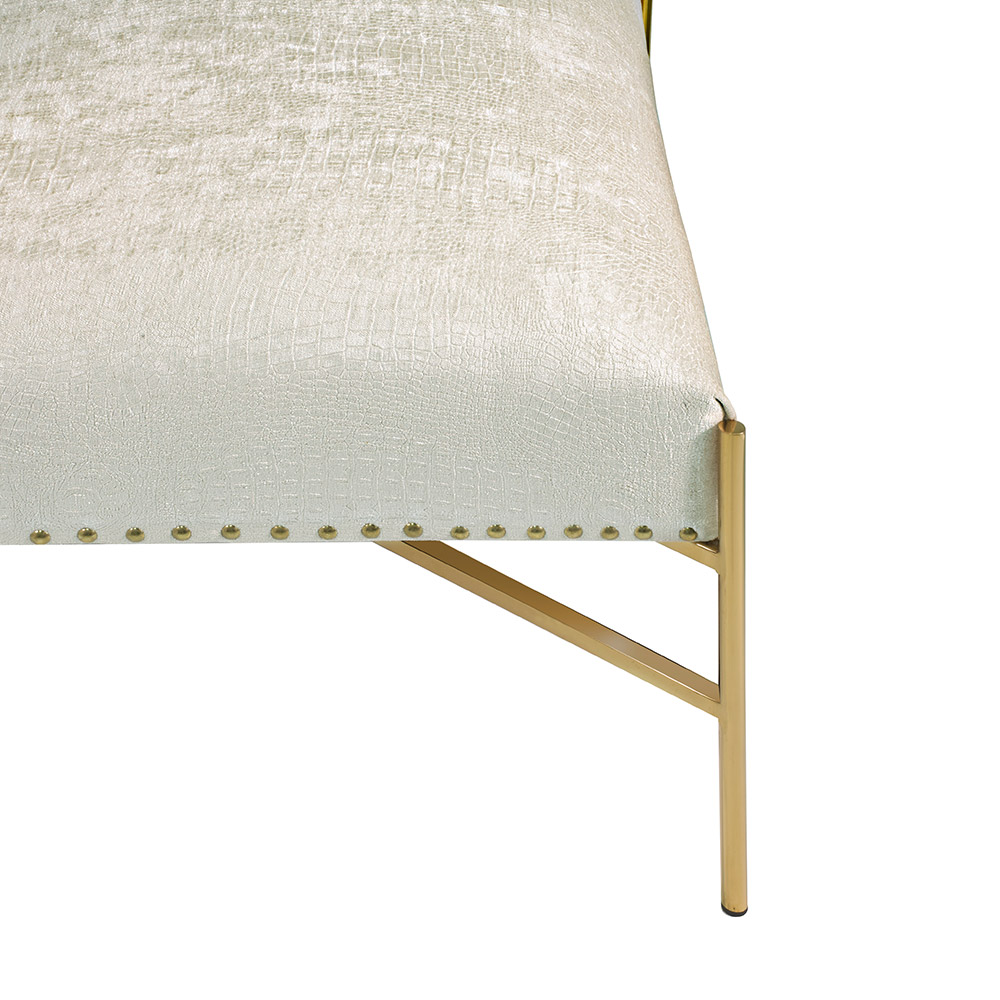 Barrymore Ivory Reptile Gold Chair