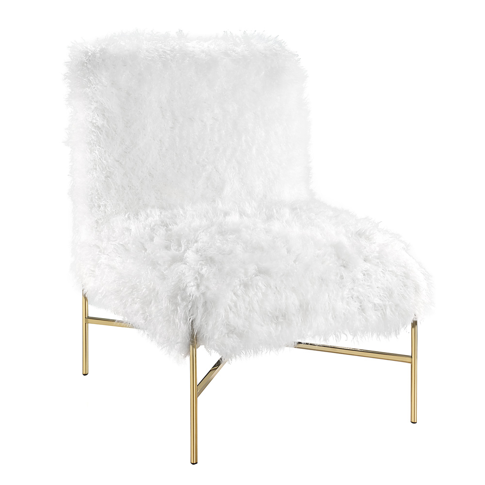 Barrymore White Fur Chair