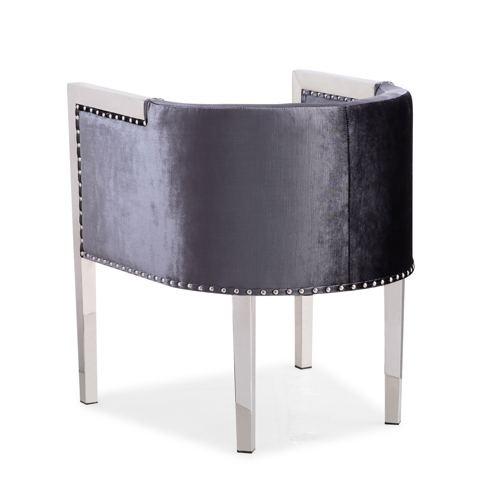 Elvis Charcoal Velvet Chair
