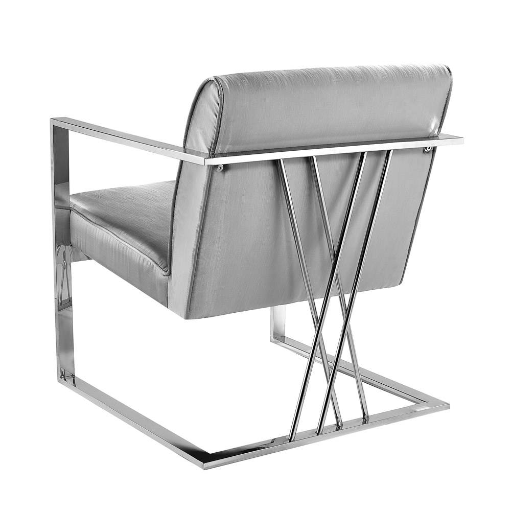 Fairmont Chair: Silver Satin