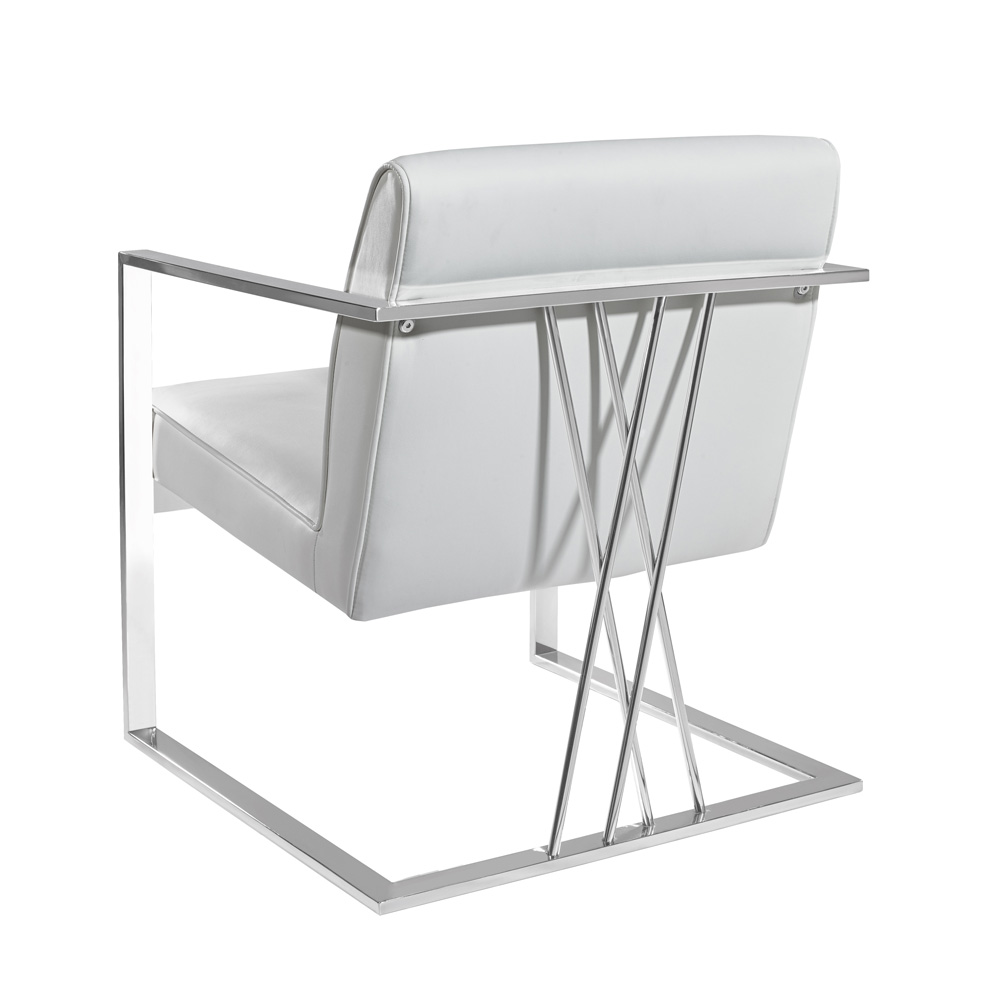 Fairmont Chair: White Leatherette