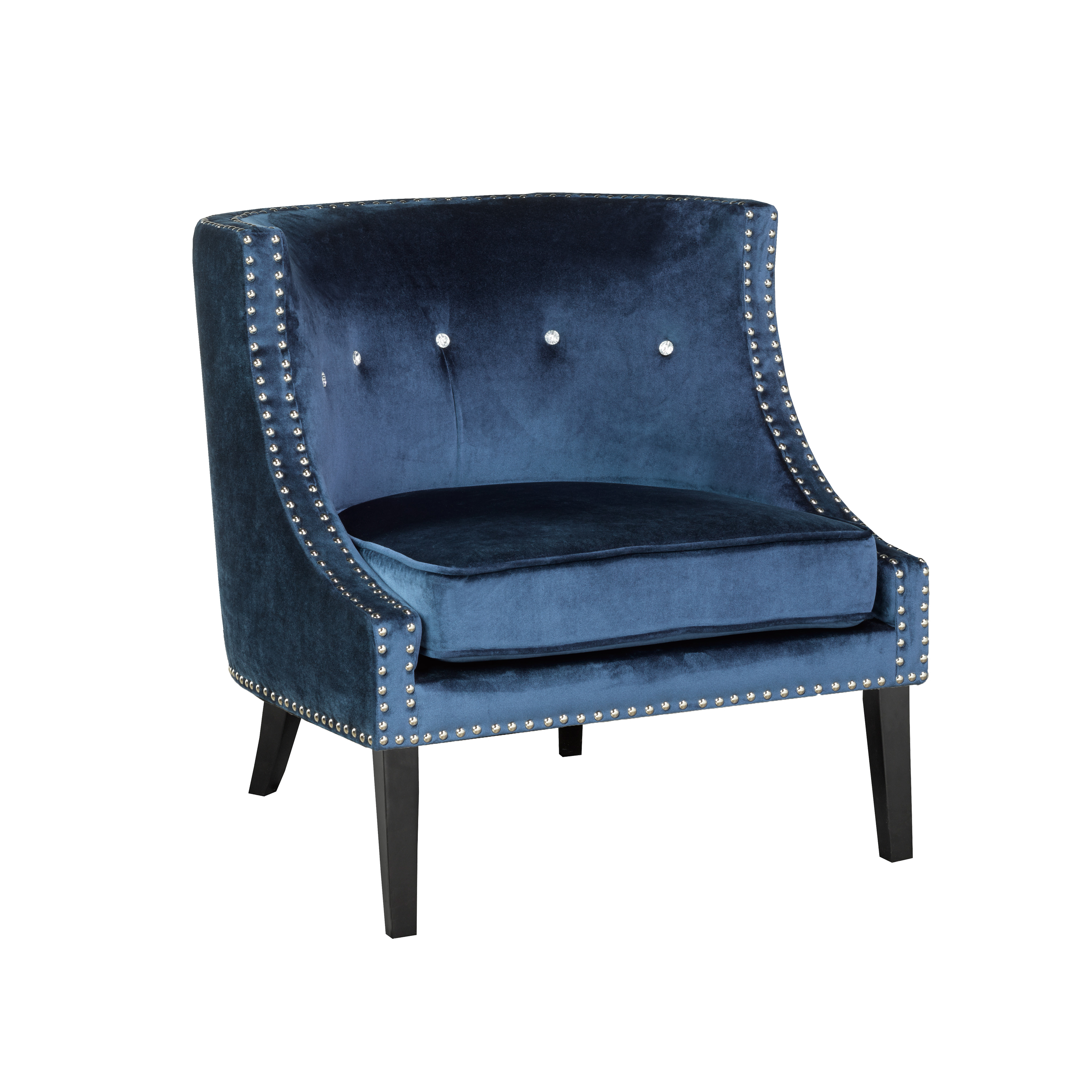 Lucy Blue Velvet Chair