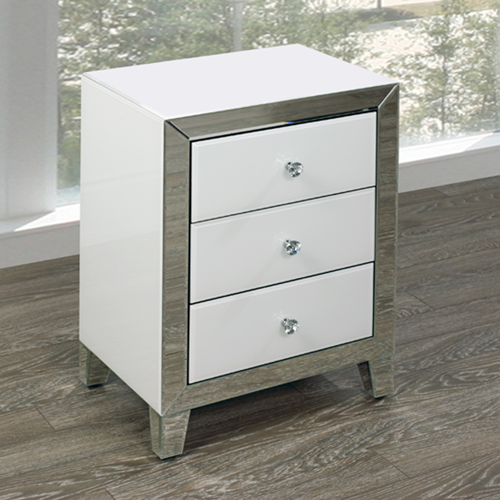 White Mirror Side Table GY-WHT001