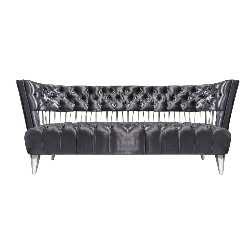 Bentley Sofa: E. Charcoal Velvet