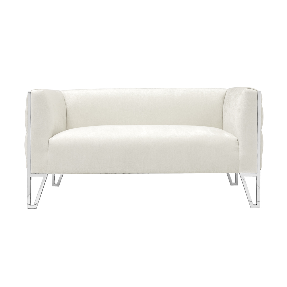 Vermont Ivory Fabric Loveseat