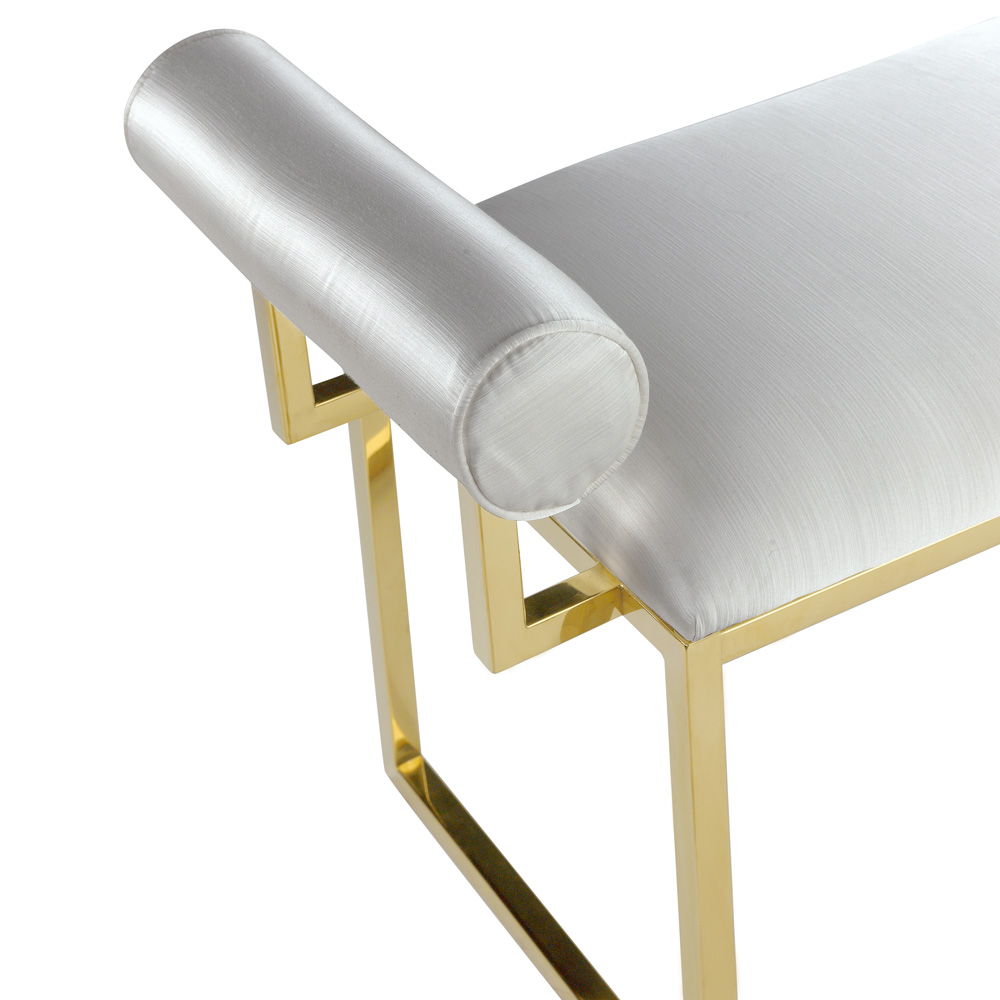 Serena White Gold Bench