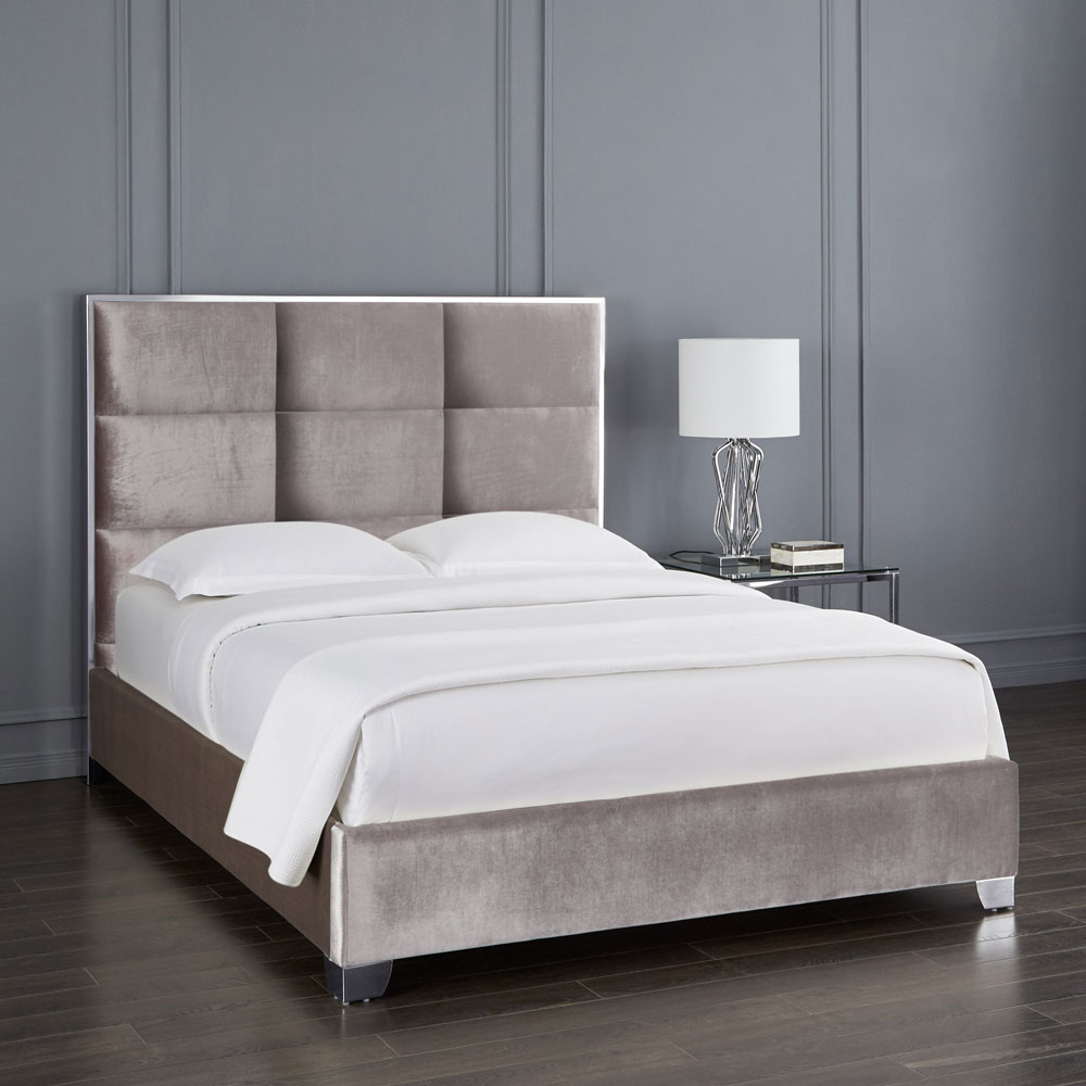 Blair Grey Velvet Bed