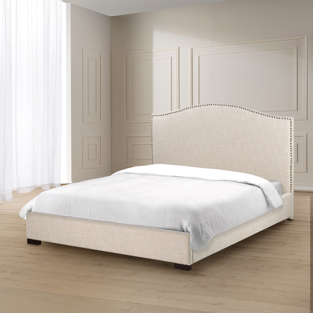 Jameson Beige Fabric King Bed