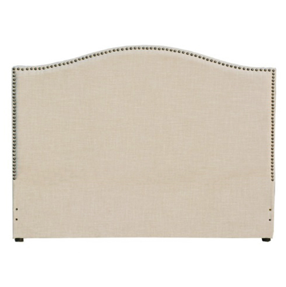 Jameson Beige Fabric Queen Headboard