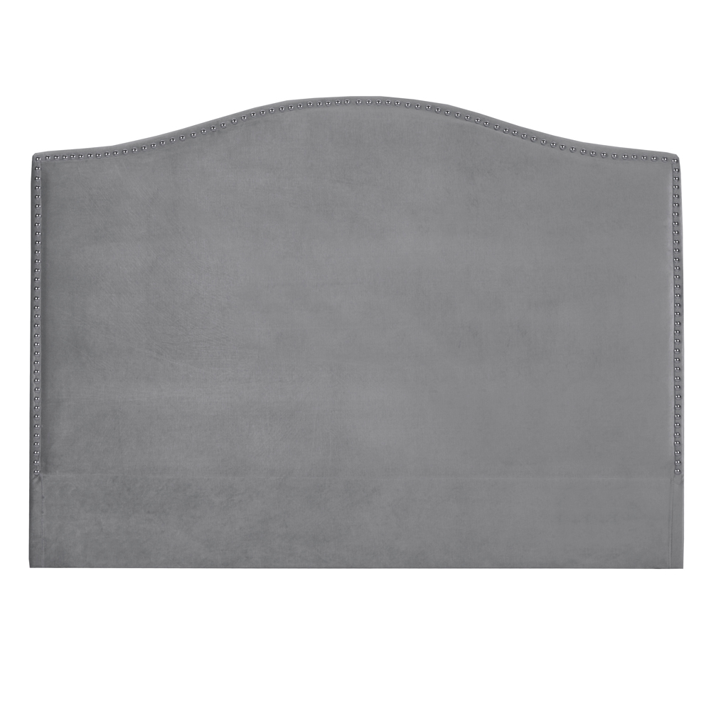 Jameson Grey Velvet Queen Headboard
