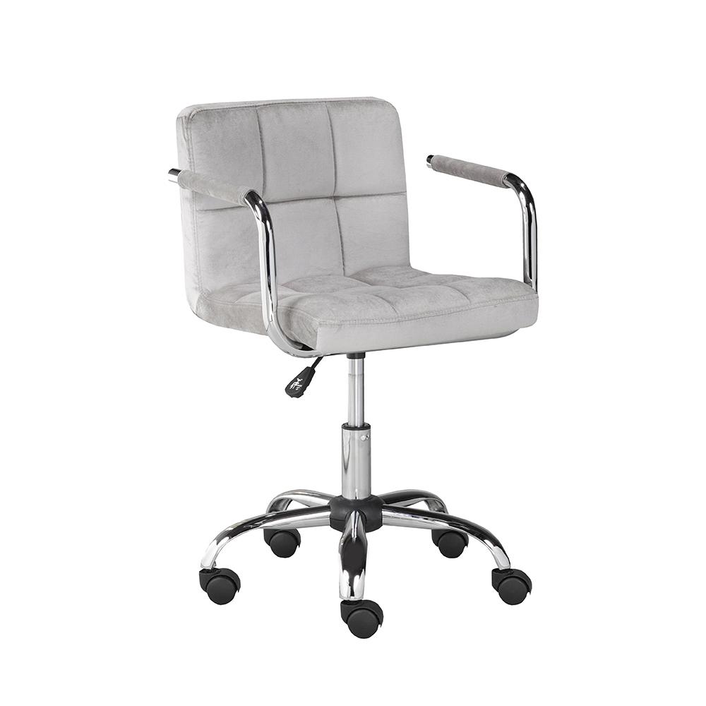 Selena Office Chair: Grey Velvet