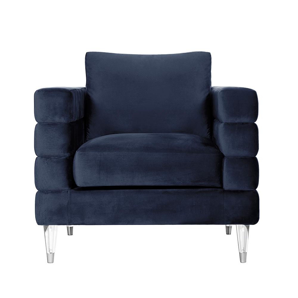 Channel Chair: Blue Velvet