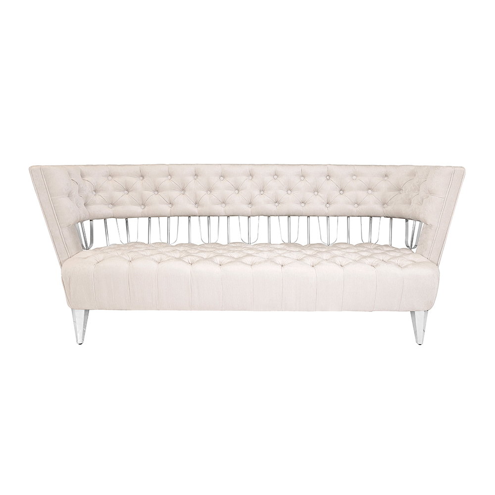 Bentley Sofa: Ivory Fabric