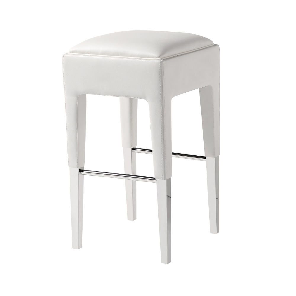 Peyton Counter Chair White Leatherette