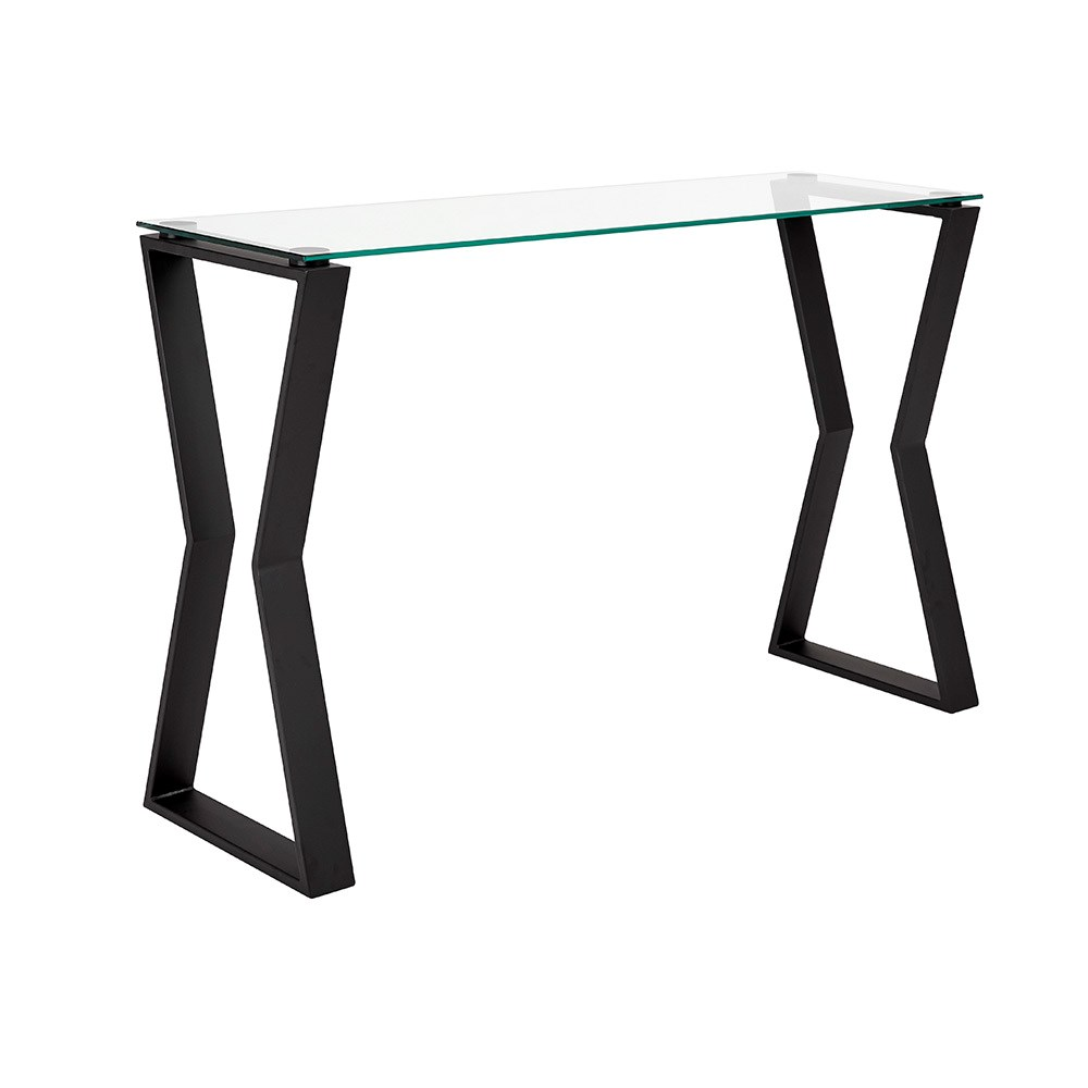 Noa Black Metal Console Table