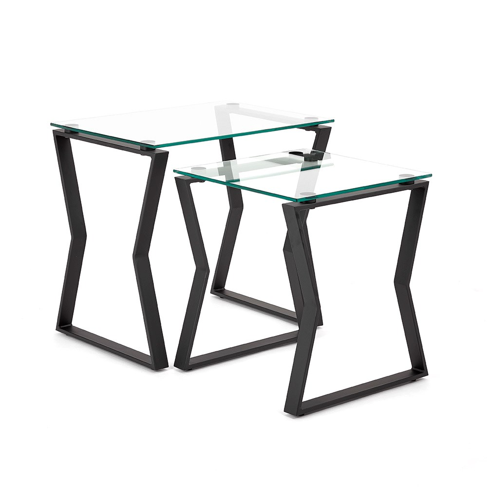 Noa Black Metal End Table