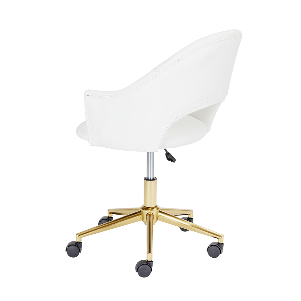 Castelle White PU Office Chair