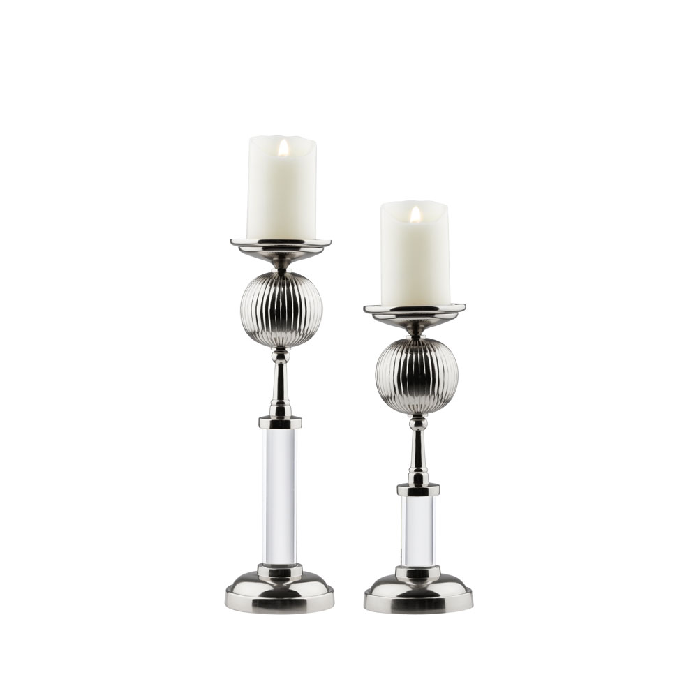 Miya Candle Holder - Silver