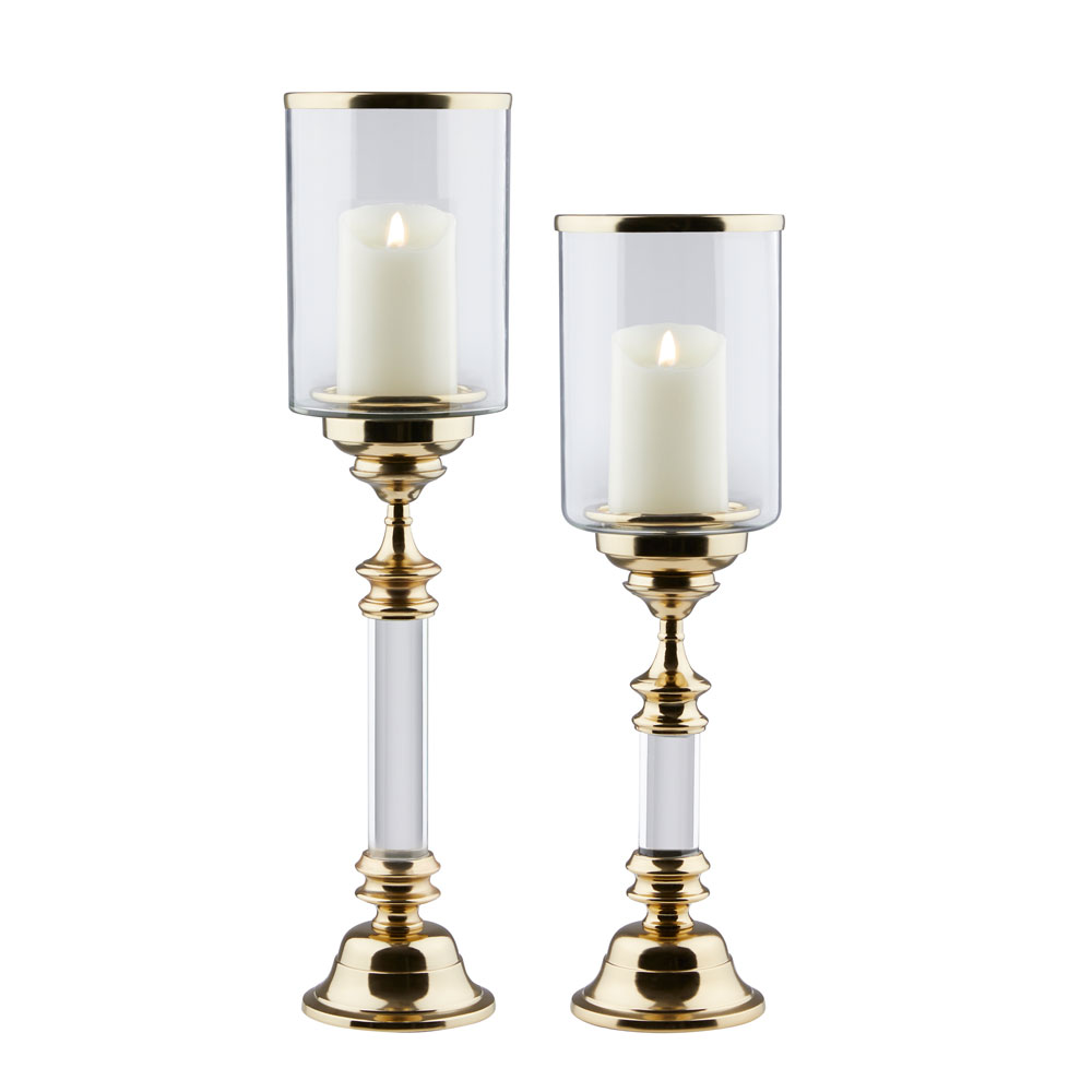 Saben Candle Holders - Gold