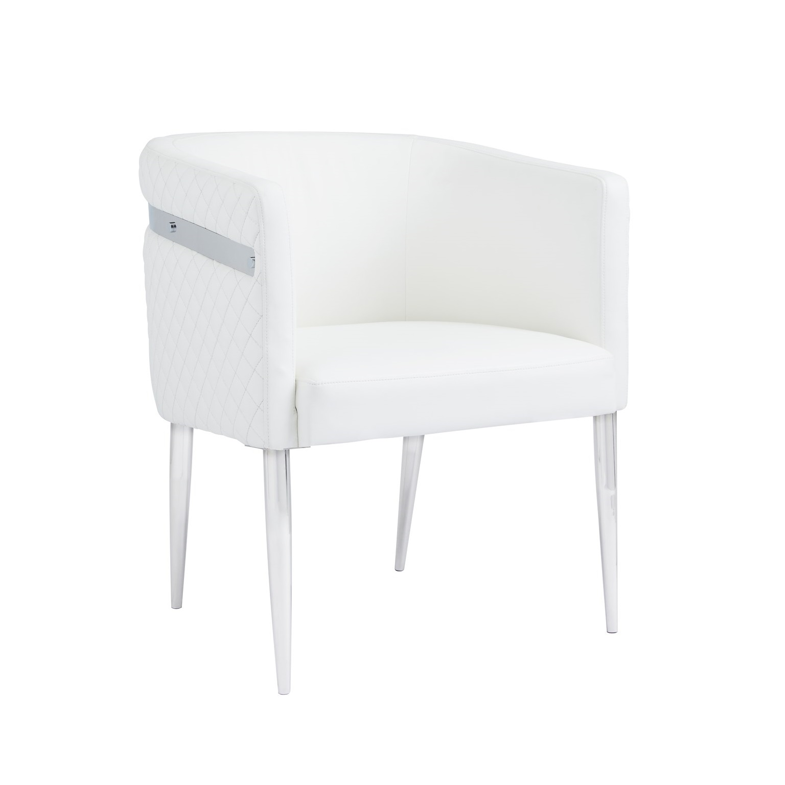 ANASTASIA CHAIR WHITE LEATHERETTE