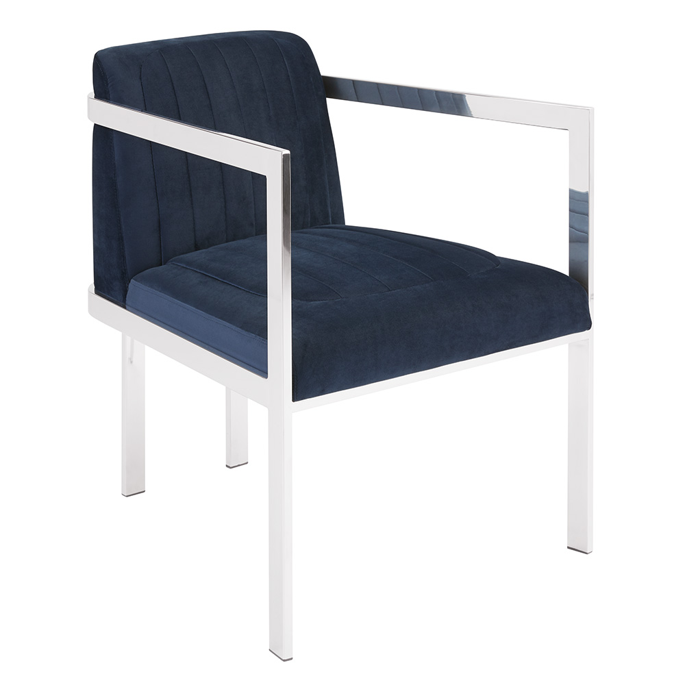 Sullivan Ink Blue Velvet Chair