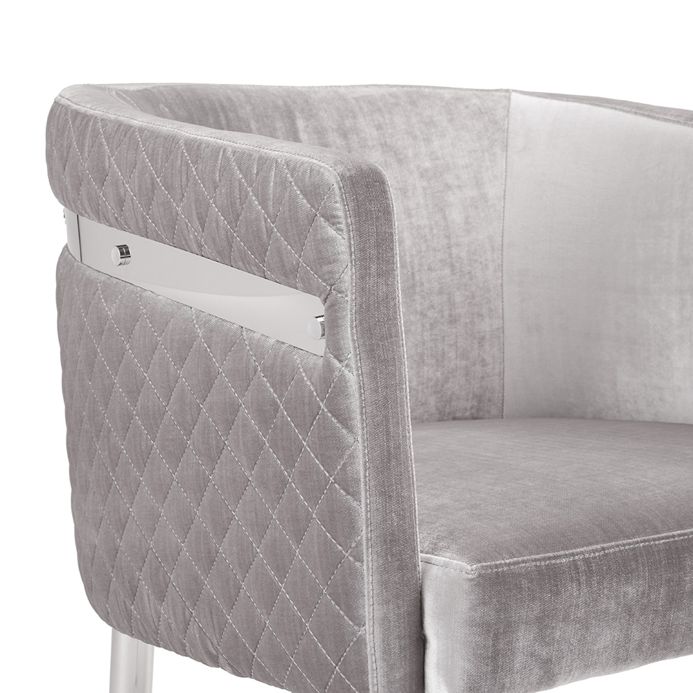 Anastasia Grey Velvet Chair