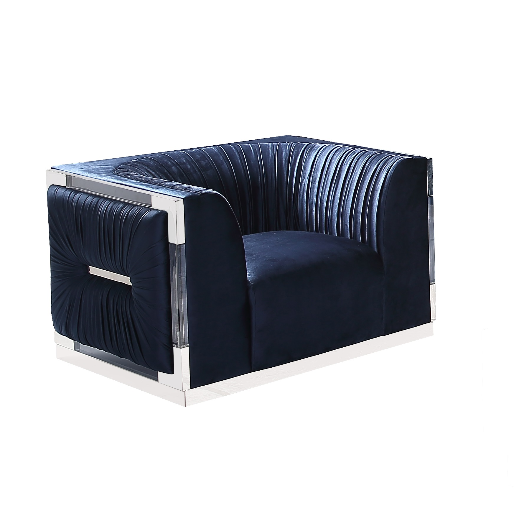 Paloma Accent Chair BLUE VELVET