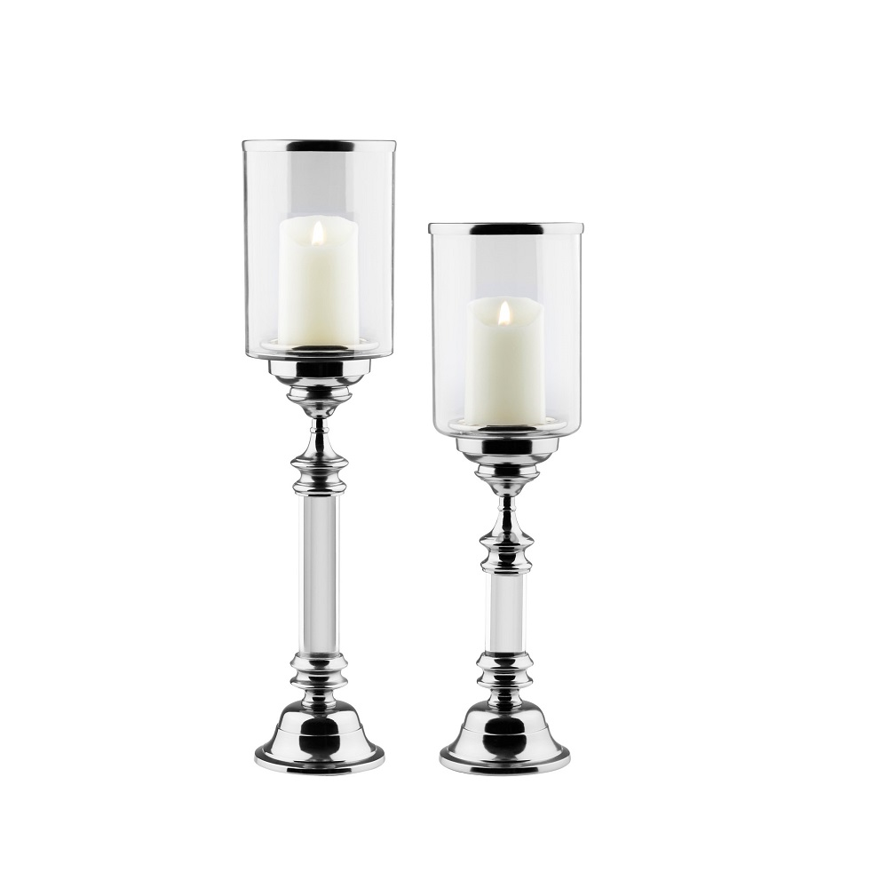 Saben Candle Holders - Silver