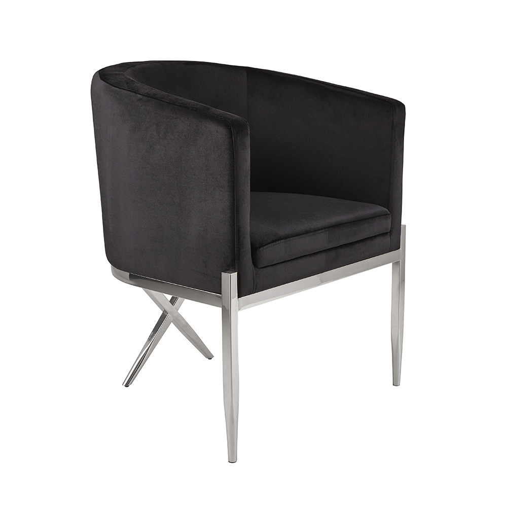 Anton Accent Chair - Black Velvet