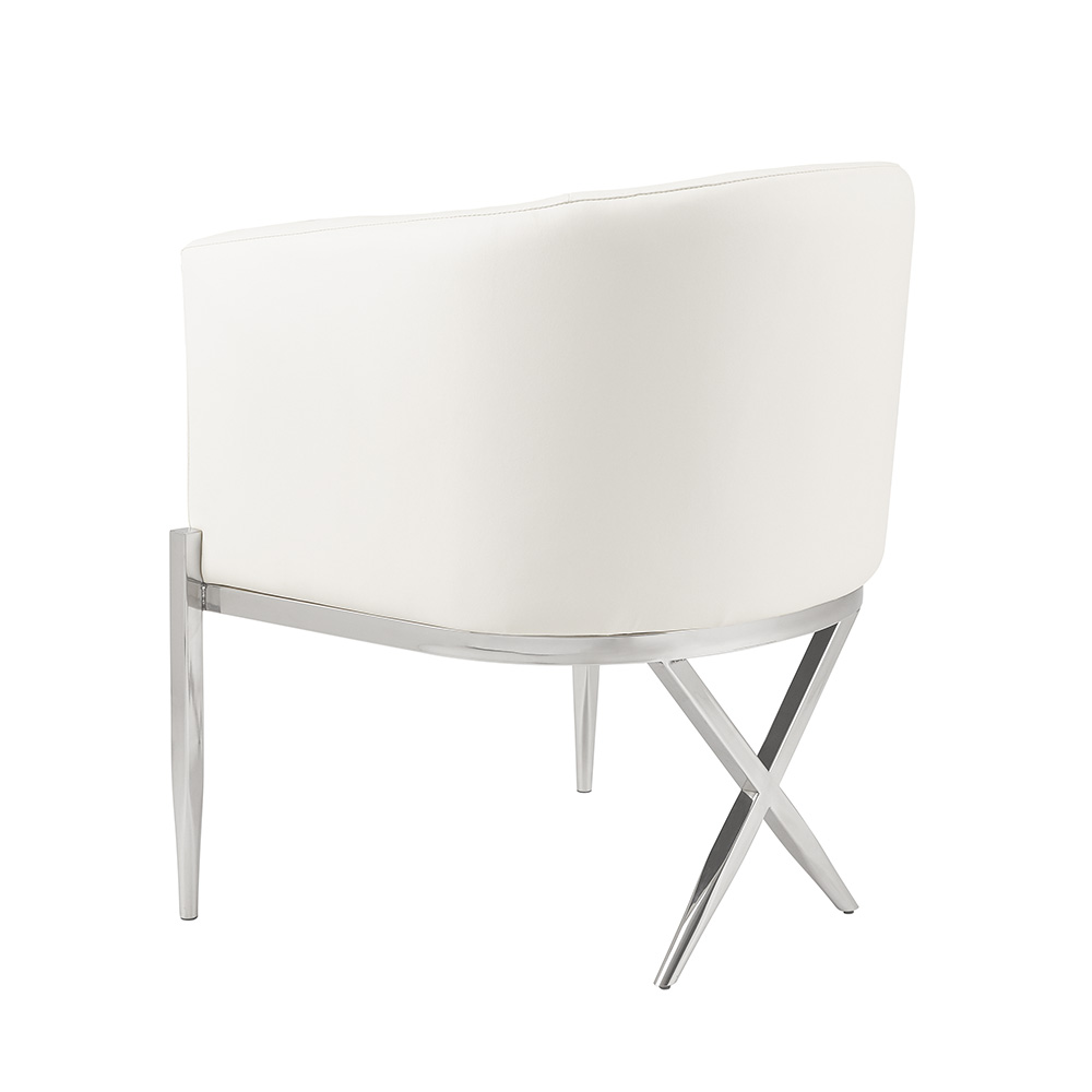 Anton Accent Chair - White Leatherette