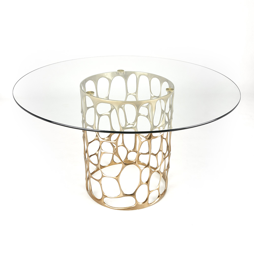 Mario Dining Table - Gold