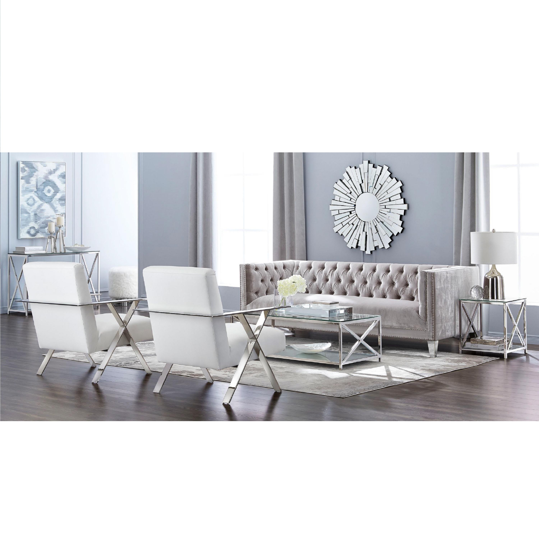 Barcelona Grey Velvet Sofa