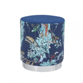 Aria Ottoman: Jungle Print Fabric