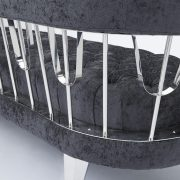 Bentley Sofa: Charcoal Fabric