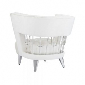 Bentley Accent Chair: Ivory Fabric